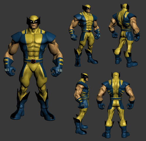Character Design Zbrush Course : Wolverine character design zbrush