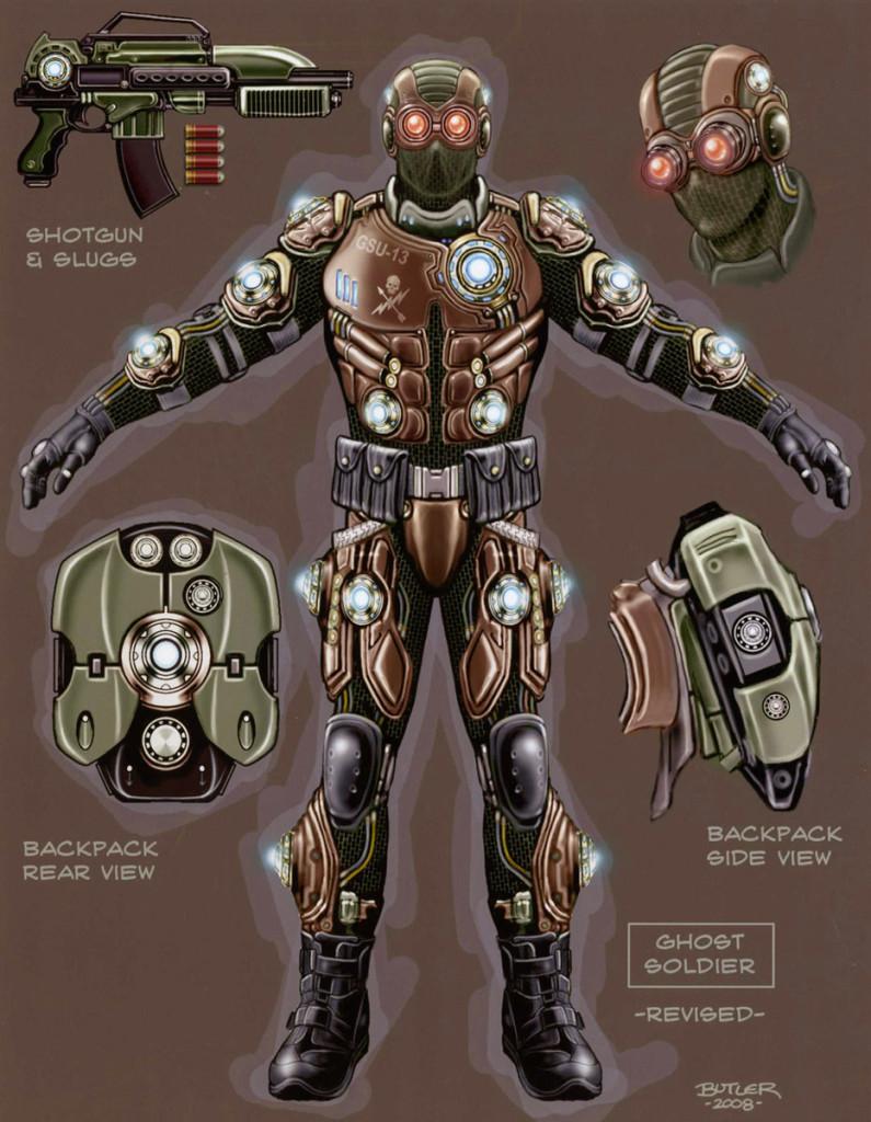 ghost soldier enemy design photoshop 2009