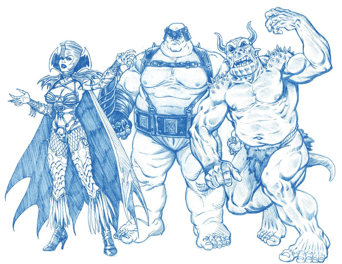 X Men Legends Character Designs Blue Pencil 2003