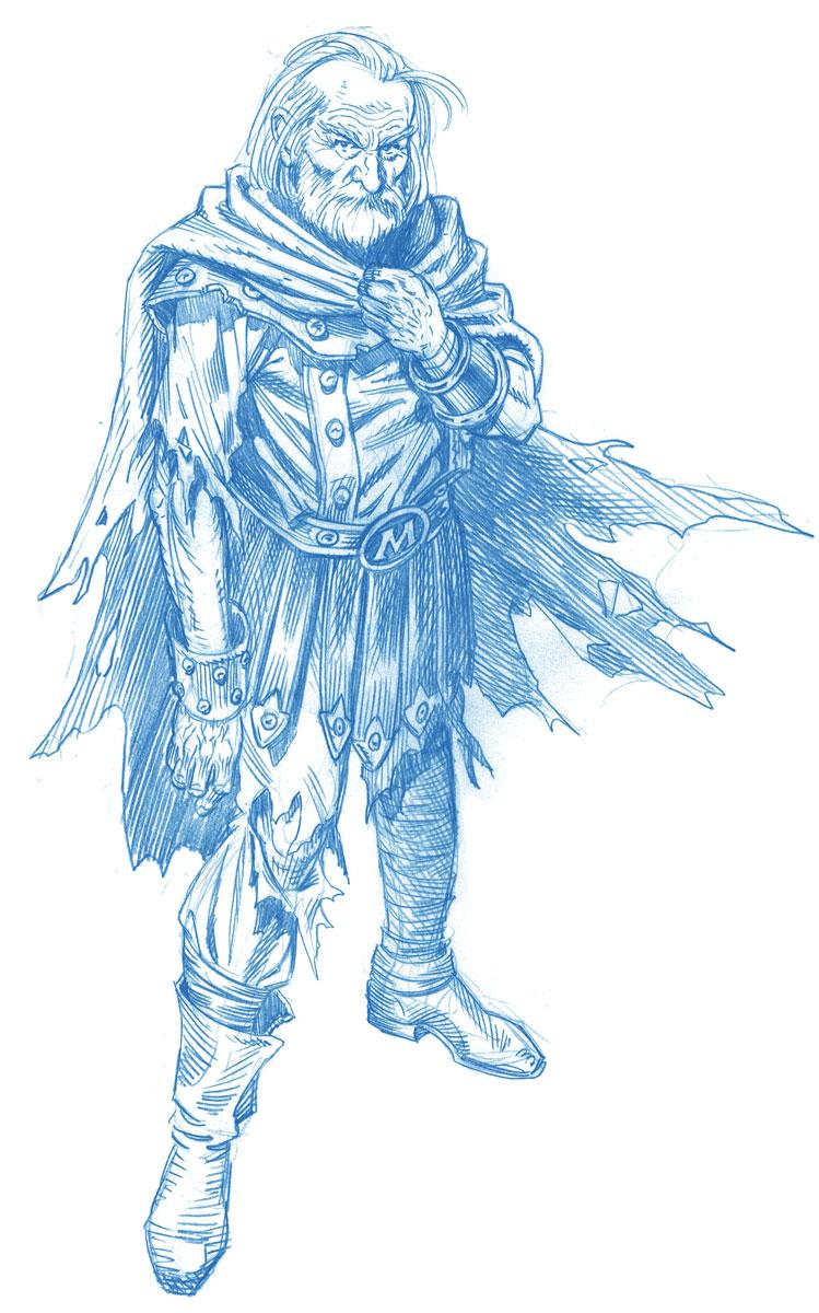 Future Magneto Character Design Blue Pencil 2000