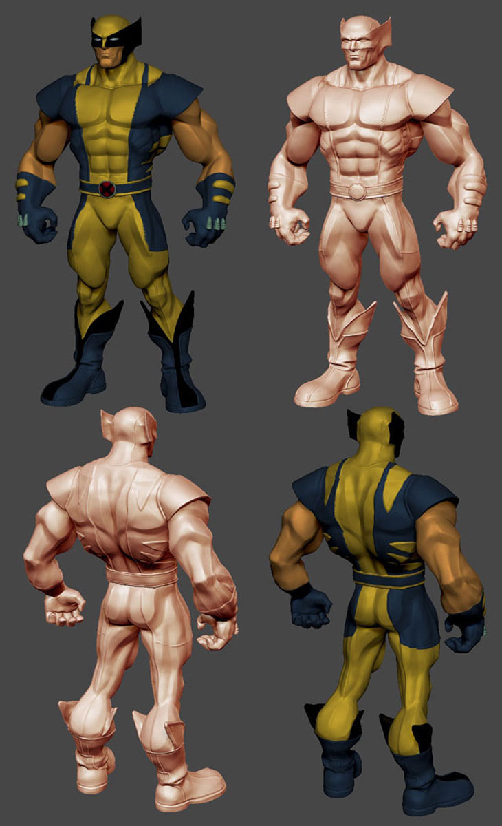 Character Design Zbrush : Wolverine character design zbrush