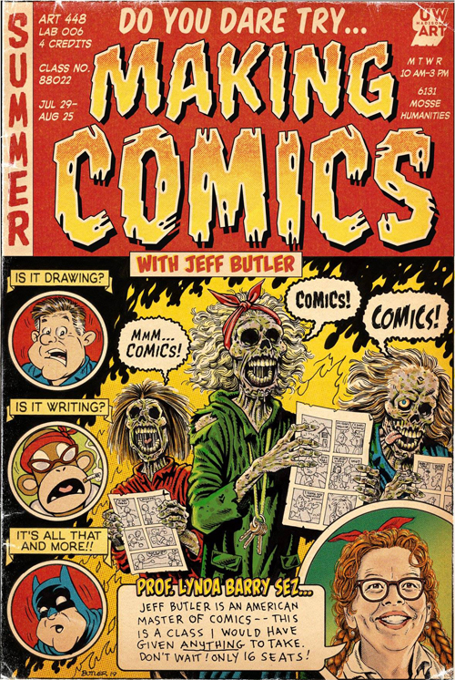 Making Comics course poster / Lynda Barry sub