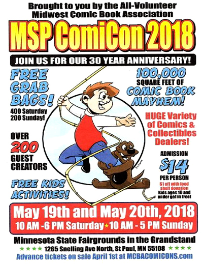 MSP ComicCon 2018 Poster - Comic Book Mayhem!