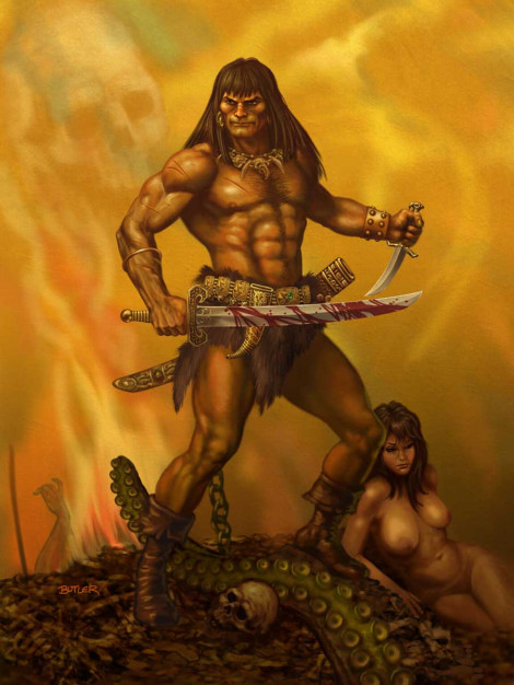 Barbarian Homage Digital Painting 2017