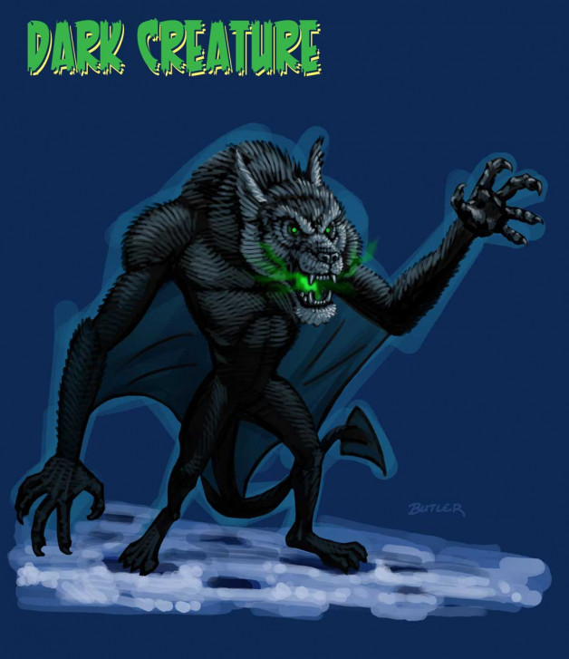 MagiQuest – Dark Creature – Great Wolf Resorts Digital Painting	 2012
