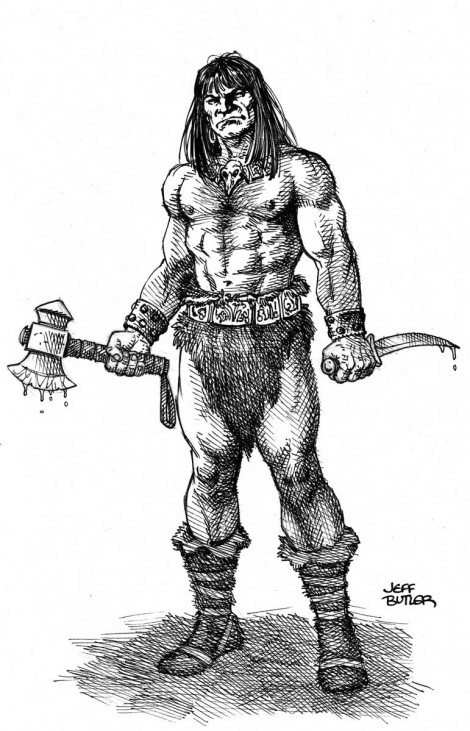 Conan – Convention Sketch –  Pen & Ink 2011