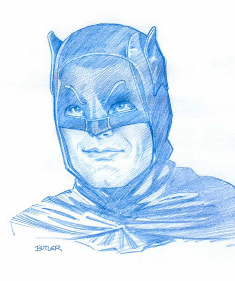 Adam West Batman Sketch