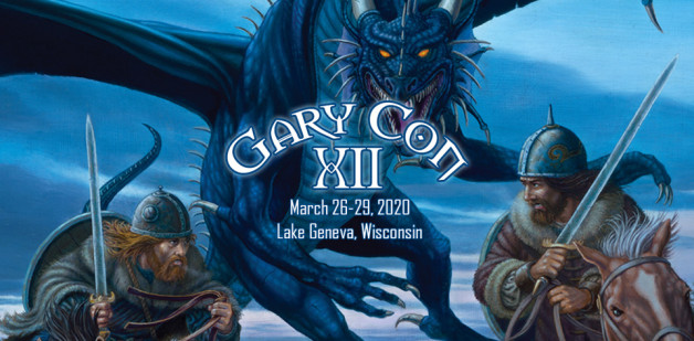 GaryCon 2020 header - dragons, fantasy