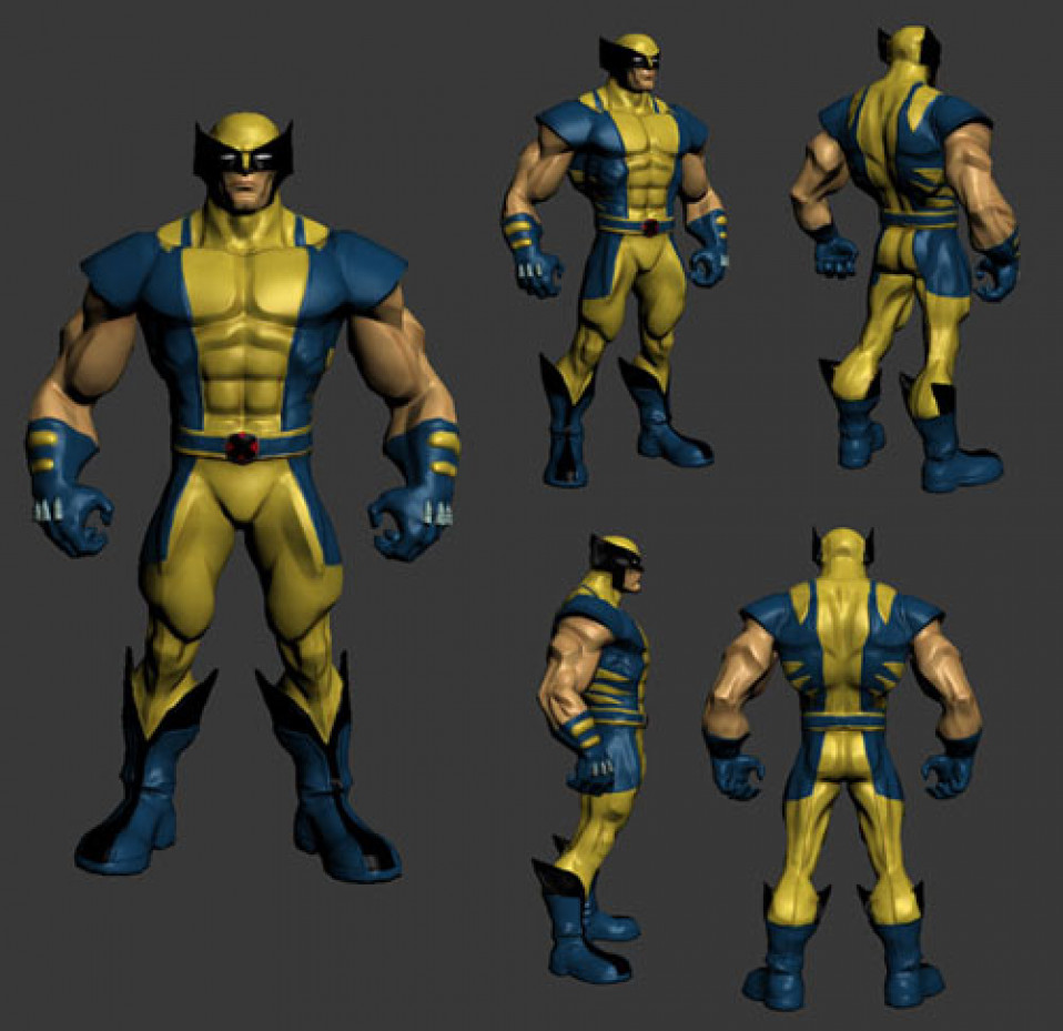Character Design Zbrush : Wolverine character design zbrush the art of jeff