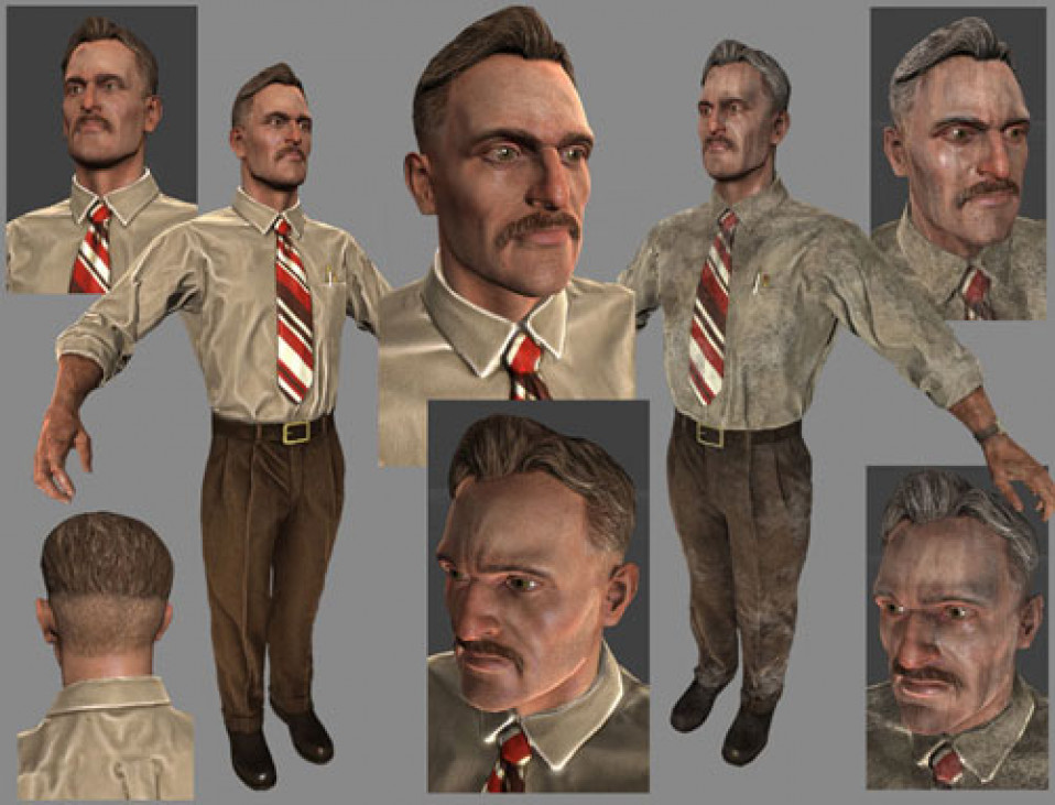 Dictator – Young Video Game Character Photoshop and ZBrush 2009
