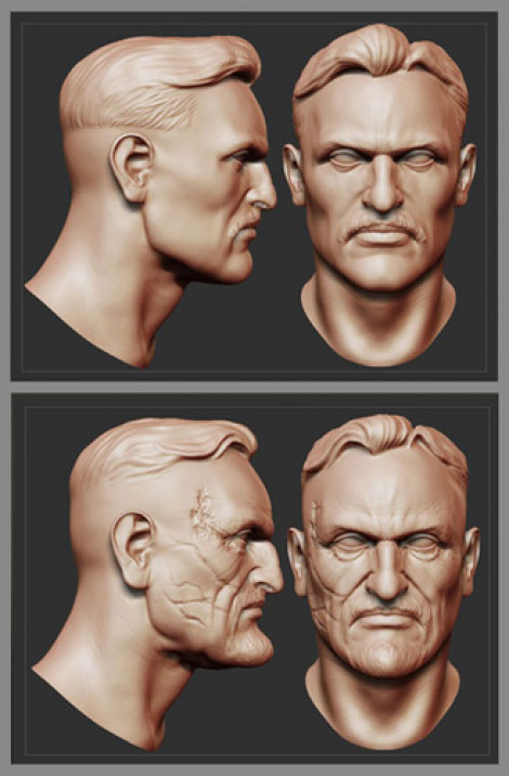 Dictator – Head Models Video Game Character ZBrush 2009