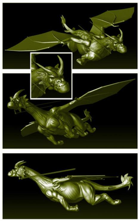 Flying Dragon Creature Design ZBrush 2011