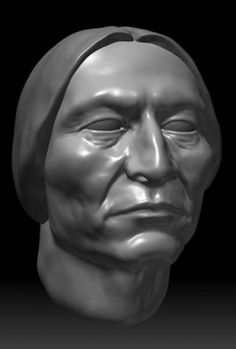 Sitting Bull Portrait Study ZBrush 2011