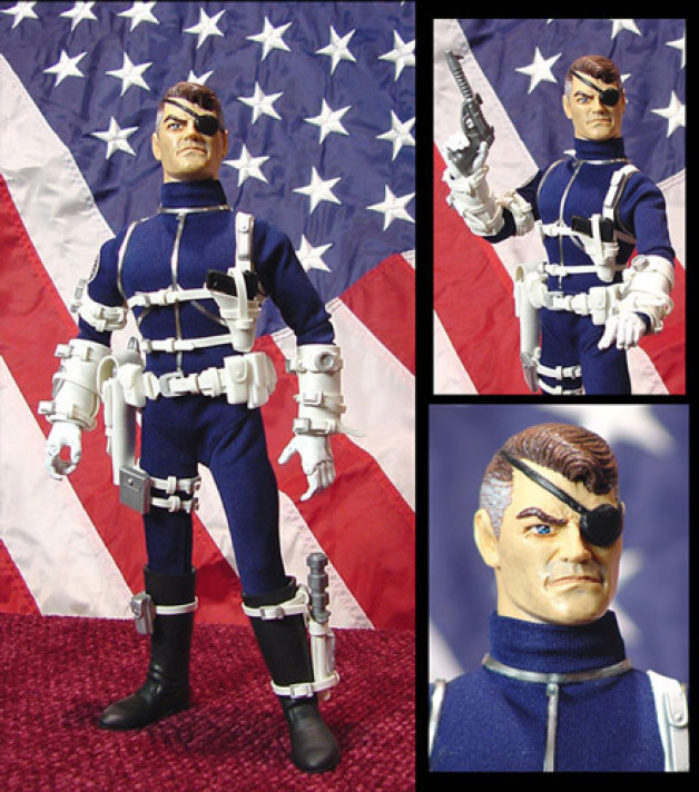 Nick Fury Custom Action Figure Multi-Media 2003