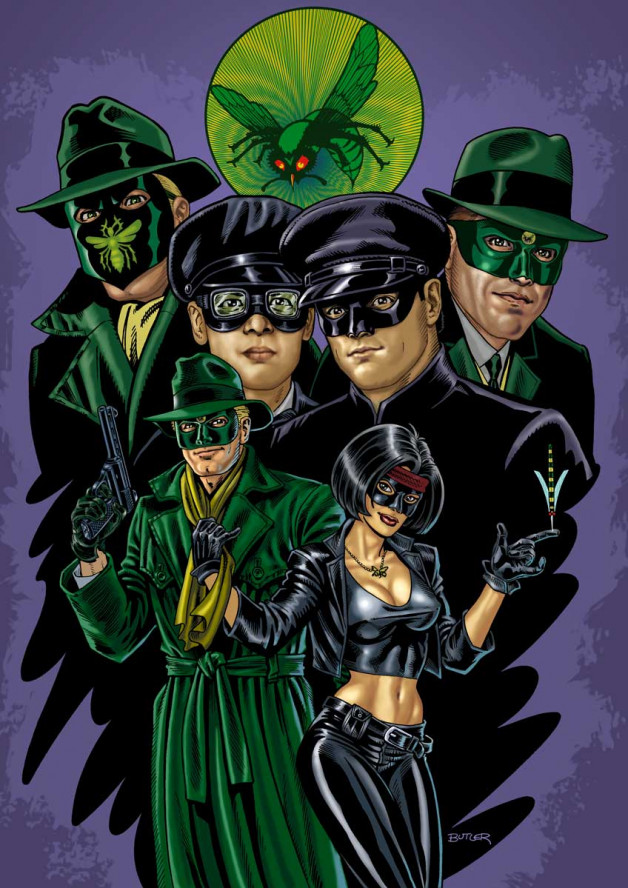 The Green Hornet: Generations Personal Collection Brush and Ink on board 2005