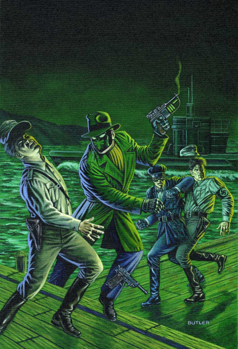 Sting of the Green Hornet #3 NOW Comics Acrylic on canvas 1992