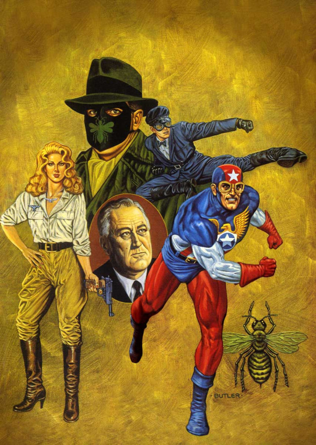 Sting of the Green Hornet #4 NOW Comics Acrylic on canvas 1992