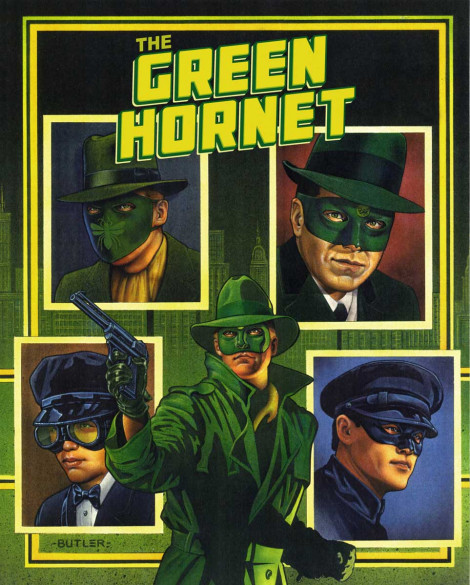 Green Hornet  Hardbound Book Cover Bonus Books Acrylic and airbrush on board 1990