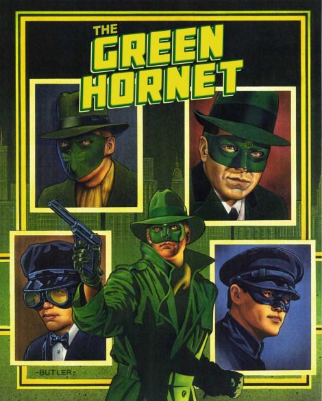 Green Hornet  Hardbound Book Cover Bonus Books Acrylic and airbrush on board 1990
