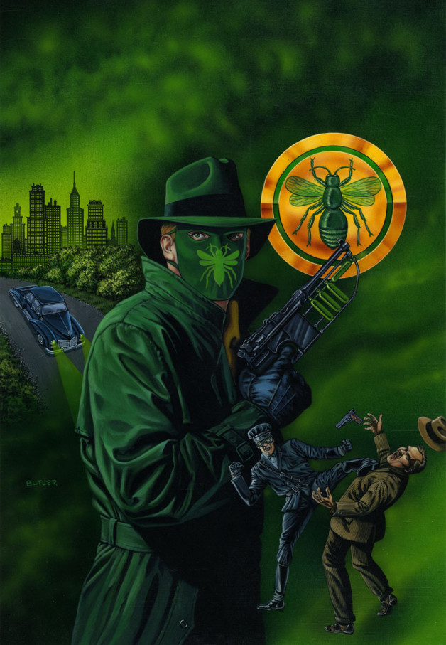 Golden Age Green Hornet Print Avalon Fine Art Prints Acrylic and airbrush on board 1990