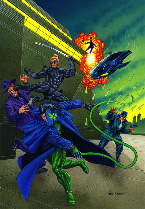 Green Hornet: Dark Tomorrow #3 NOW Comics Acrylic and airbrush on board 1993