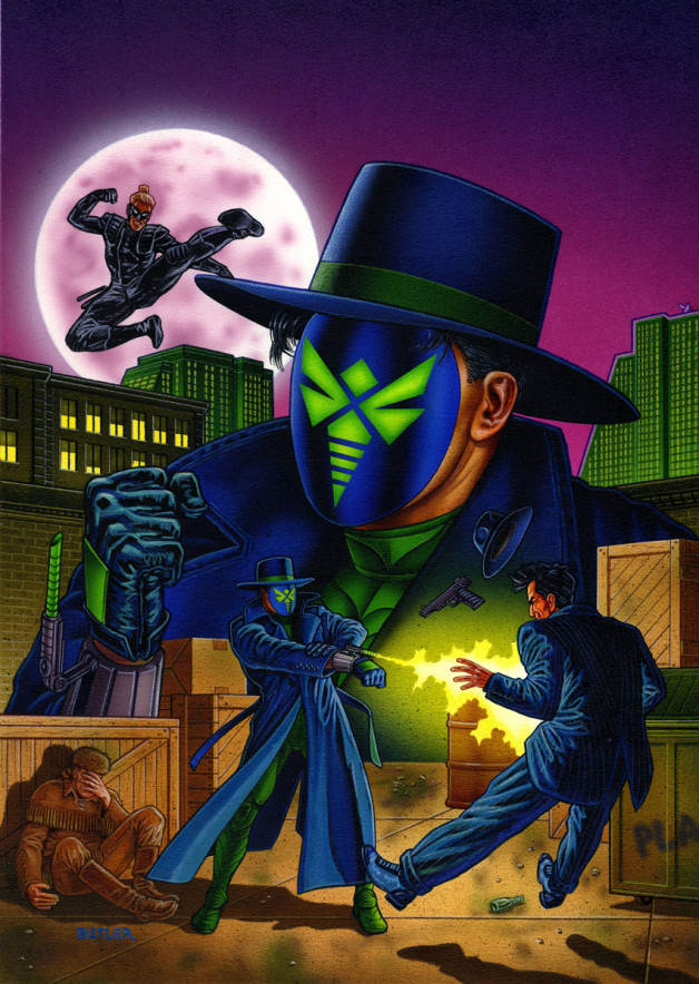 Green Hornet: Dark Tomorrow #1 NOW Comics Acrylic and airbrush on board 1993