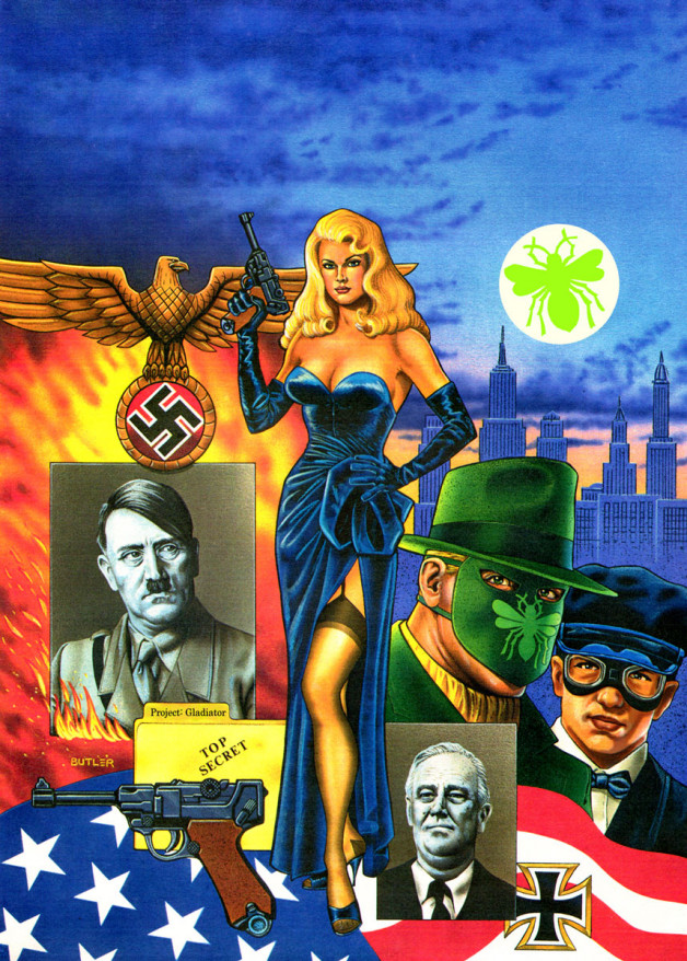 Sting of the Green Hornet #2 NOW Comics Airbrush on board 1992