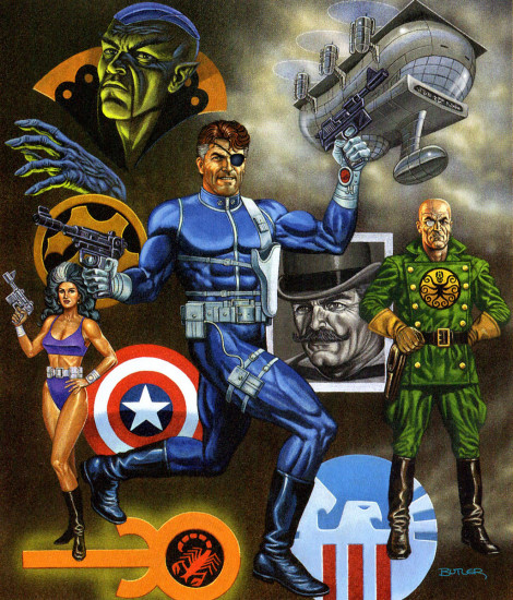 Nick Fury Agent of S.H.I.E.L.D. The Gamer's Handbook of the Marvel Universe 1992 Update Acrylic on canvas 1992