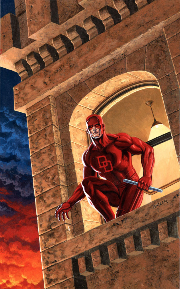 Daredevil Guilt By Association Acrylic on board 1987