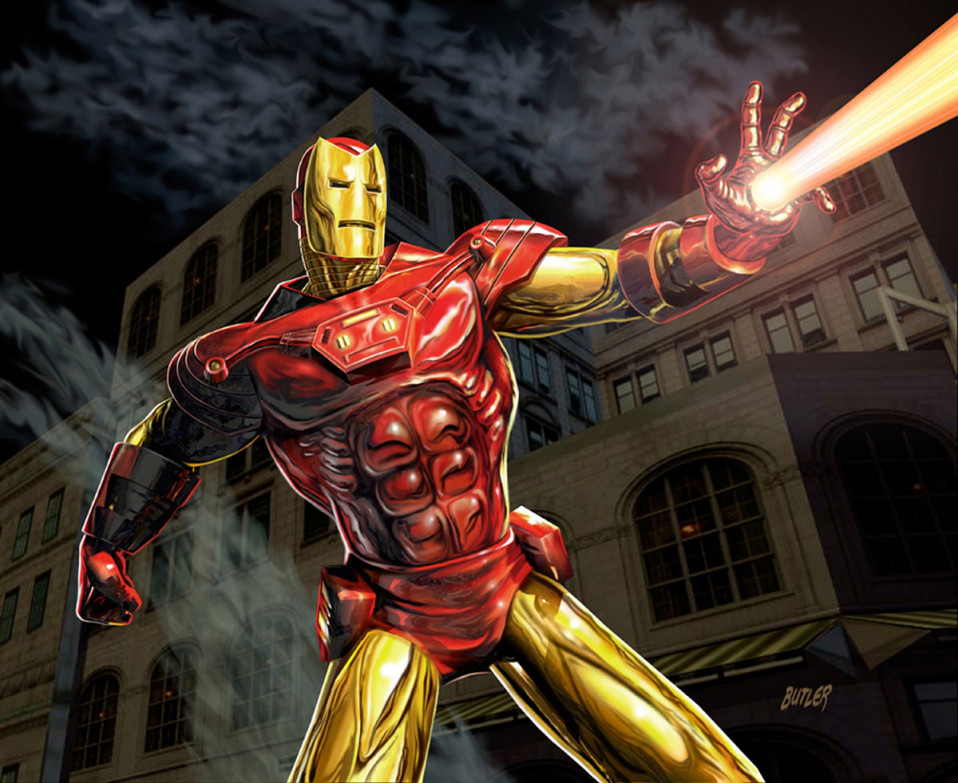 Iron Man X-Men Legends II  Digital Painting 2005
