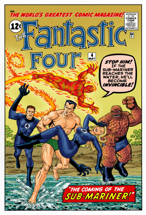 Fantastic Four #4 Cover Recreation Pen, Ink and Photoshop Colors 2010