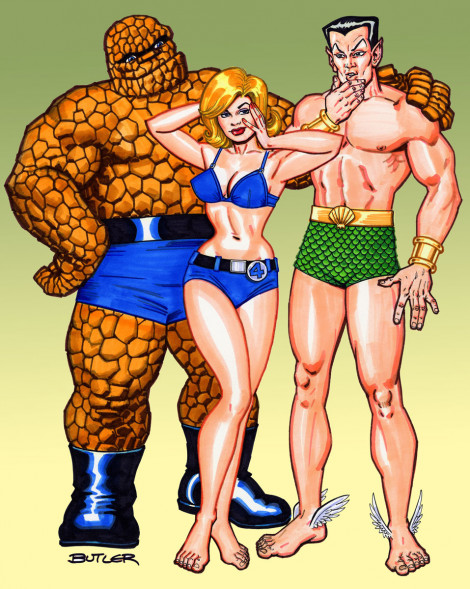Thing, Sue & Namor Marker Sketch 2008