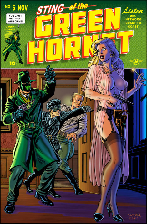 Sting of the Green Hornet Commission  Pen, Ink and Photoshop Colors  2010