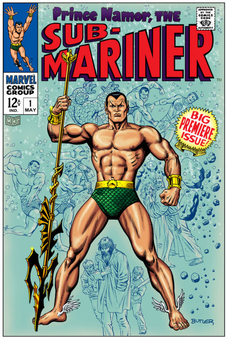 Sub-Mariner #1  Cover Recreation Pen, Ink and Computer Colors 2009
