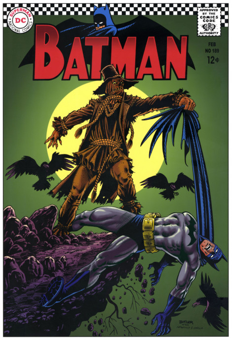 Batman #189 Cover Recreation Brush, Ink and Photoshop Colors 2007