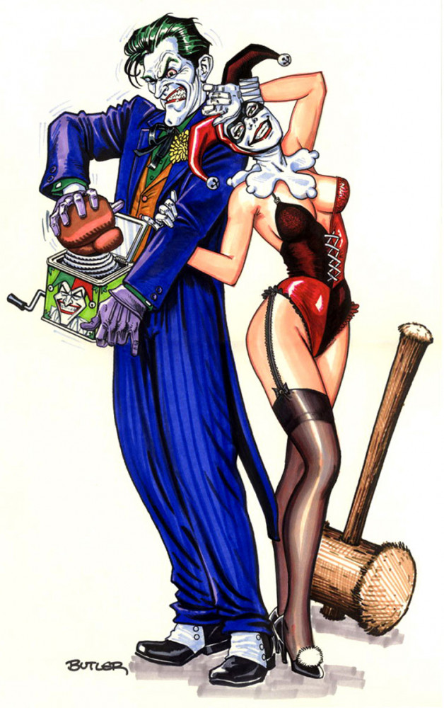 Joker and Harley Commission Marker Sketch 2007