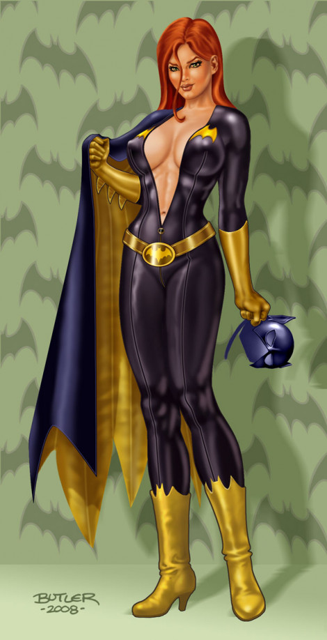 Stand-Up Gal: Batgirl Novelty Item Digital Painting 2008
