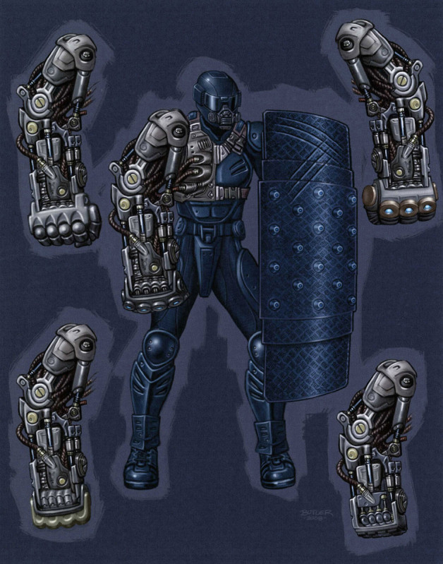 Gauntlet Soldier Enemy Design Photoshop 2009