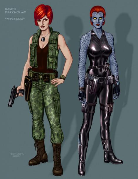 Raven Darkholme Character Design Photoshop 2009