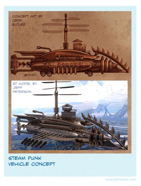 Steam Punk Vehicle Design ZBrush 2011