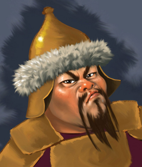 Mongol Warrior Character Study Photoshop 2011