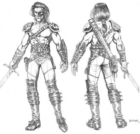 Corvus Character Design Pencil 1997