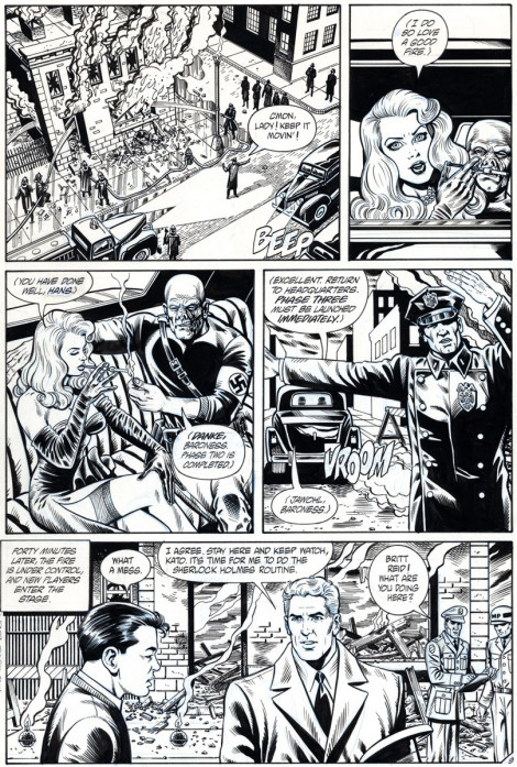 Sting of the Green Hornet #3 NOW Comics Brush and Ink 1992