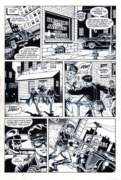 Sting of the Green Hornet #2 NOW Comics Brush and Ink 1992