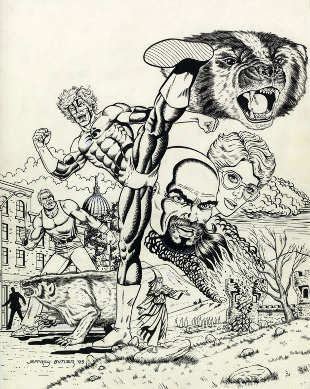 Badger #1 Splash Capital Comics Brush and Ink 1983