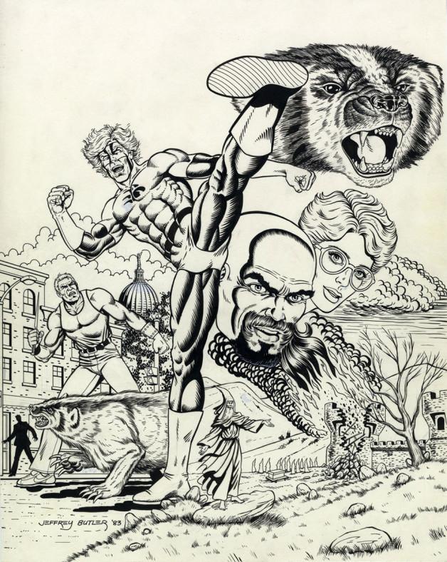 Badger #1 Splash Capital Comics Brush and Ink 1983