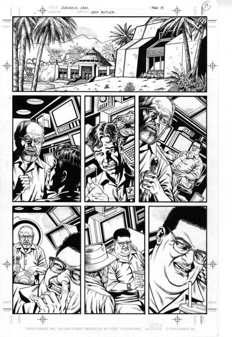 Jurassic Jam Topps Comics Brush and Ink 1997