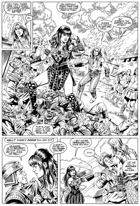 Hercules and Xena Topps Comics Pencils 1996