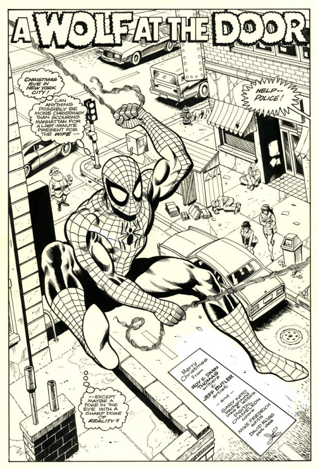 Spider-Man: A Wolf at the Door Star*Reach/Marvel Brush and Ink 1991