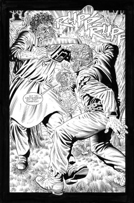 Jason vs. Leatherface Topps Comics Pencils 1995